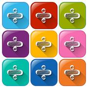 Mathematical symbol icons - stock illustration