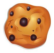 A crunchy biscuit with choco balls - stock illustration