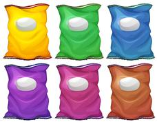 Colourful chips containers Stock Illustration