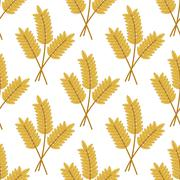 seamless pattern of cereal ears - stock illustration