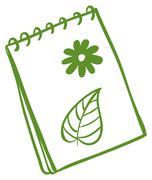 Stock Illustration of A green notepad