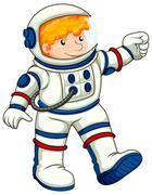 An astronaut - stock illustration
