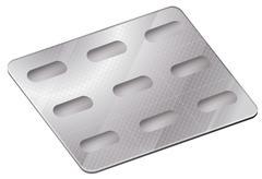 A pharmaceutical blister pack Stock Illustration