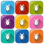 Scorpion icons Stock Illustration