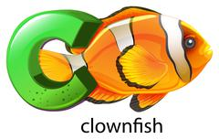 Stock Illustration of A letter C for clownfish
