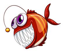 An ugly angry fish Stock Illustration