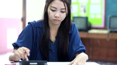 Woman working job Stock Footage