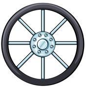 A wheel Stock Illustration