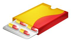 A pack of capsules - stock illustration
