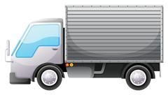 Stock Illustration of A delivery van