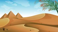 A landscape at the desert Stock Illustration