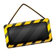 An under construction signage - stock illustration