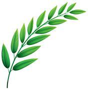 Green leaves - stock illustration