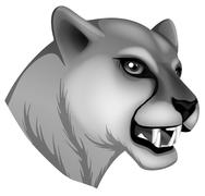 A grey panther Stock Illustration