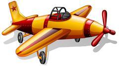 A vintage jetplane Stock Illustration