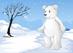 A polar bear freezing Stock Illustration