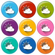Stock Illustration of Forecast icons