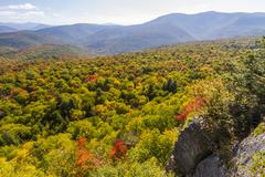 Catskills Autumn vista Stock Photos