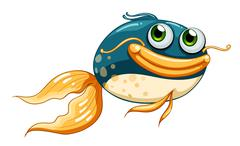 A fish with big eyes Stock Illustration
