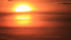 Moody weather smog sunset - stock footage