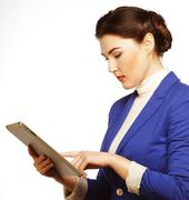 Business woman holding a tablet computer Kuvituskuvat