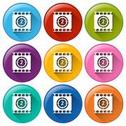 Movie buttons Stock Illustration