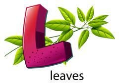 A letter L for leaves Stock Illustration