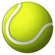 A tennis ball - stock illustration