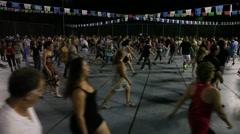 Dancers perform nostalgic Israeli folk dances during Harvest Festival - stock footage