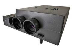 Projector multimedia with two lenses Stock Photos
