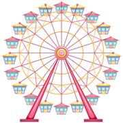 A ferris wheel ride Stock Illustration