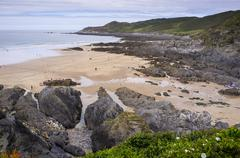 Woolacombe Beach - stock photo