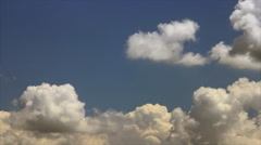 White clouds near horizon Stock Footage