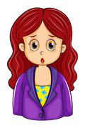 A redhead businesswoman Stock Illustration