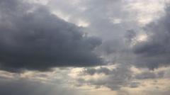 Gray cloudscape sky Stock Footage