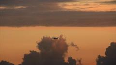 Airplane take landing Stock Footage