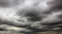 Low altitude grey clouds Stock Footage