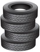 Pile of tires Piirros
