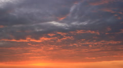 Stock Video Footage of Crimson light on twilight