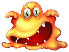 A monster in horror - stock illustration
