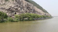 Longmen Grottoes Stock Footage