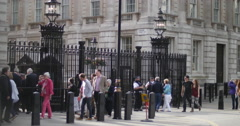 Outside British PM residence 4K Stock Footage
