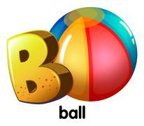 Stock Illustration of A letter B for ball