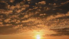 Twilight sunset clouds Stock Footage