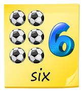 Stock Illustration of A number six