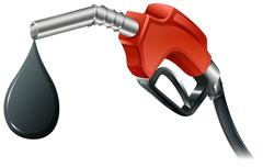 A gray and red colored fuel pump - stock illustration