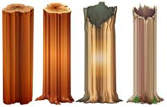 Growing tree stumps - stock illustration