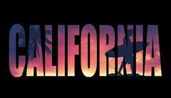 Vintage filtered california postcard Stock Illustration