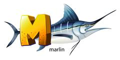 Stock Illustration of A letter M for marlin
