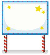 An empty frame banner with stars - stock illustration